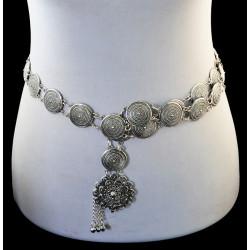 N-6772 New Arrival Long Chain Flower Pendant Tassel Waist Necklace for Women