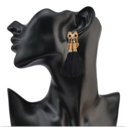 E-4084 2 style Bohemian Vintage Gold Plated Tassel Earring Chain Dangle Long Earrings for Women Jewelry