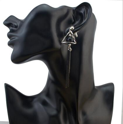 E-4090 Fashion Women Gold Silver Plated Tassel Dangle Drop Earrings Long Line Ethnic Earring Boho Party Jewelry