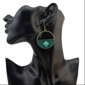 E-4100 6 Styles Vintage Luxury Charm Boho Bronze plated Drop Stud Earring for Women Jewelry