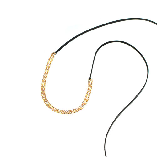 N-6798 Fashion Necklaces Velvet Leather Choker Clavicle Sexy Tassel  Necklaces For Women Jewelry