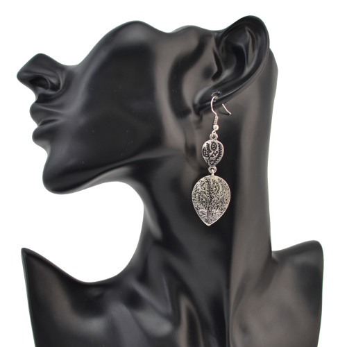 E-4098 2Style New Arrival Retro Silver Gold Plated Dangle Drop Earrings For Women Jewelry