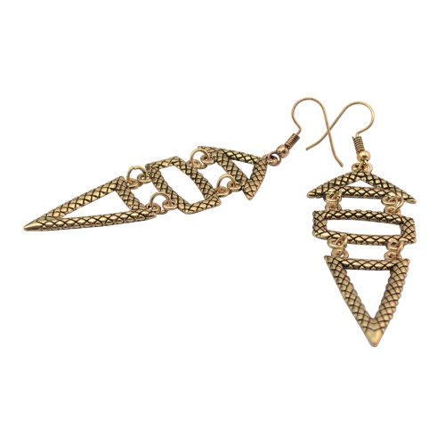 E-4097 2Style New Arrival Retro Silver Gold Plated  Long  Dangle Drop Earrings For Women Jewelry