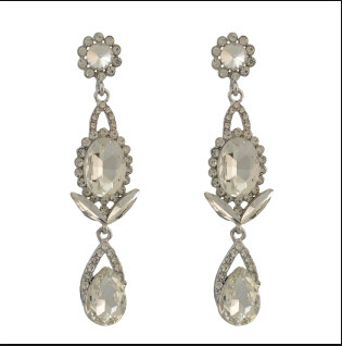 E-4102 New Arrived Fashion Shiny Diamante Crystal Dangle pendant Silver Plated Earring For Charm Women Jewelry