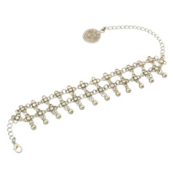 B-0848 New Fashion Silver Plated Alloy Dangle Drop Pendant Flower Chain For Women Bracelet Anklet Jewelry