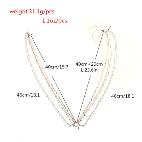 N-6811 Fashion Bohemian Gypsy Silver Gold Plated Waist Chain Body Chain Adjustable Body Jewelry