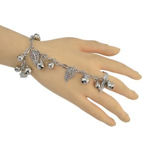 B-0846 New Fashion Silver Tassel Bells Boho  Bracelets For Women Jewelry