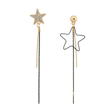 E-4116 New Fashion Shiny Gold Alloy Diamante Crystal Drop Dangle Pendant Ear Charm Women Earring Jewelry