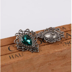 P-0373 New Arrived 3 Color New Fashion Silver Metal Flower Shape Brooch Pin Charm Jewelry