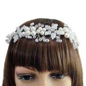 F-0413 Bridal Wedding Hair Accessories Gold Silver Crystal Pearl Handmade Headpiece Women Headbands Jewelry