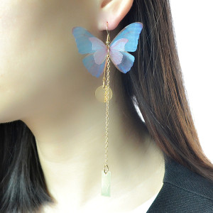 E-4135 3Style New Fashion Gold Plated  Pearl butterfly Tassel Long Drop Earring For Women