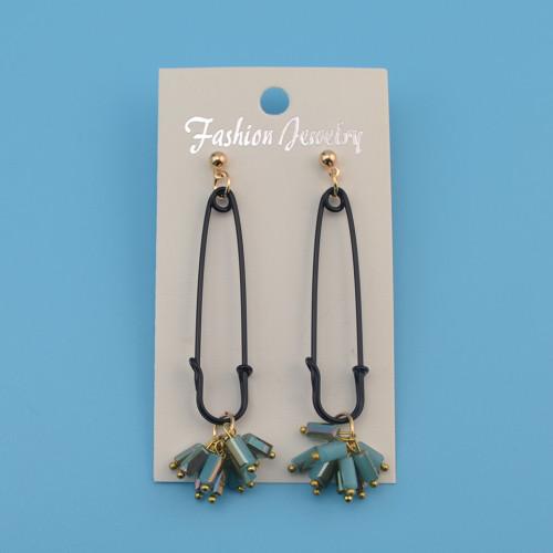 E-4132 Fashion Korea Style Enamel Pin Tassel Charm Dangle Earring for Women Jewelry