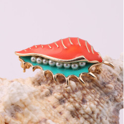 P-0375 2 Style Fashion Retro Gold Plated Birds Brooch Pins Pearl Shell Brooches Match All Clothing for Man Women