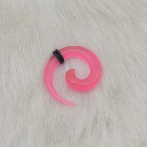 I-0013 12Pcs/Set Acrylic Spiral Taper Horn Snail Stretcher expander Piercing
