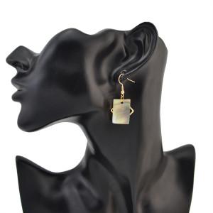 E-4128 New Fashion European 3 styles Hook Dangle Charm Earrings for Women Jewelry