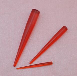 I-0031 2.3/4.5/7.6mm Red Taper Expander Ear Plug Gauge Body Piercing Bulk 12Pcs