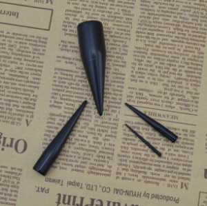 I-0023 12pcs/set Gauge Taper Black UV Expander Ear Plug Body Piercing