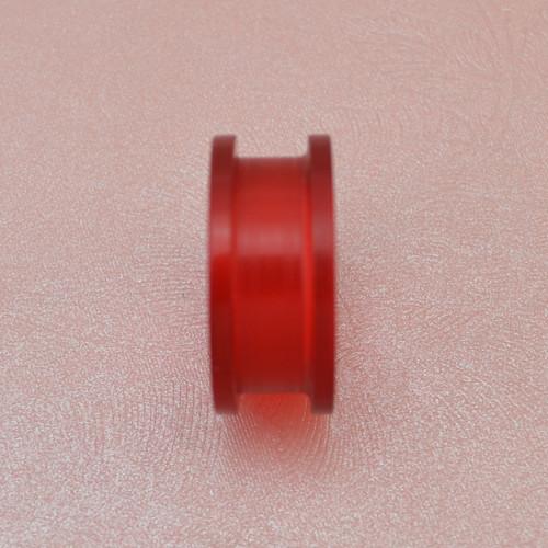 I-0058 Red Circle Ear Plug  Body Piercing