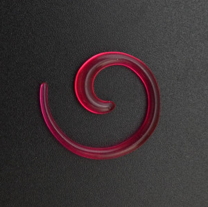 I-0056 12Pcs/Set Acrylic Spiral Taper Horn Snail Stretcher expander Piercing Body Accessories