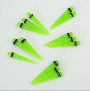 I-0034 2 Size 5/8mm Flash Taper Expander Ear Plug Gauge Body Piercing Bulk 12Pcs
