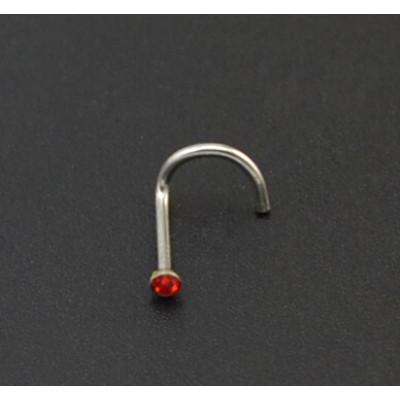 I-0054 12pcs 5 Colors Rhinestone Nose Ring Nostril Screw Studs Body Piercing Jewelry Pircing