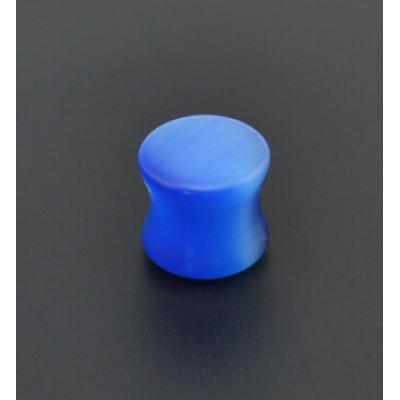 I-0050 6pcs Blue Stone Ear Plugs and Tunnels Gauge Piercing Expander Ear Stretcher Body Jewelry Piercings