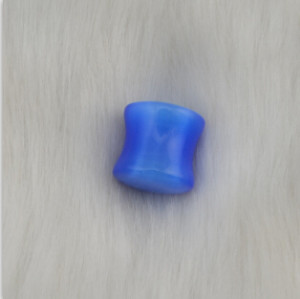 I-0050 6pcs Blue Stone Ear Plugs and Tunnels Gauge Piercing Expander Ear Stretcher Body Jewelry Piercings