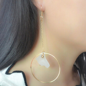 E-4150 3 Styles Gold Color Big Round Circle Pearl Drop Earrings for Women Bridal Wedding Party Jewelry
