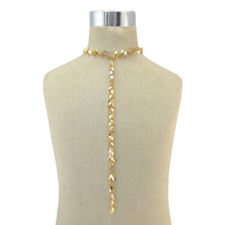 N-6861 New 2 color Fashion jewelry Silver Gold Plated Pendant Long Chain Choker Necklace for Women British Style