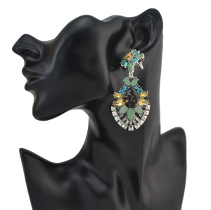 E-4147 Fashion Luxury Crystal Rhinestone Charm Drop Stud Earring for Women Jewelry
