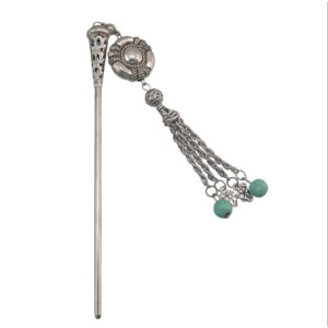 F-0434 3 Styles Vintage Silver Long Tassel Hair Sticks for Women Lady Hairpins Jewelry Hair Accessories
