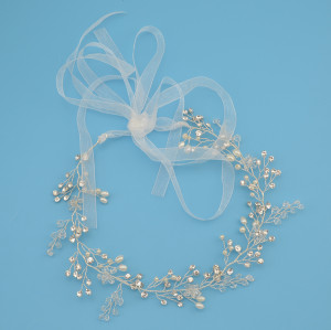 F-0433 * Fashion Lace Flowers Crystal Pearl Beads  Hairpin Hair Clip For Women  Bridal Wedding Hair Accessories Jewelry