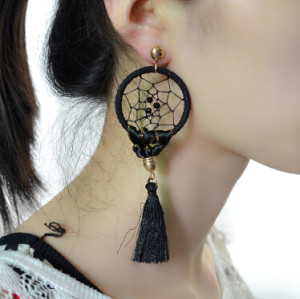 E-4175 4 Color Fashion Boho Long Feather Drop Earrings Gold Plated Tassel Party Dangle Earring Birthday Gift