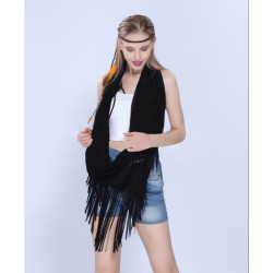 F-0344 Bohemian Handmade Retro Style Rope Chain resin beads Feather Tassel Hairband Accessories for women