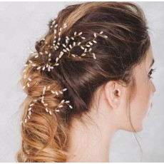 F-0438 3 Pieces/set New Design Fashion Gold Plated Alloy Pearl Hairclip  Handmade Hair Accessory for Women Jewelry
