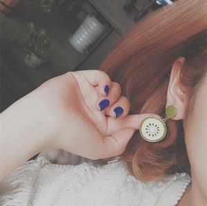 E-4178 Vintage  Boho Cicle Drop Stud Earring for Women Jewelry