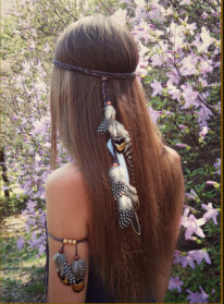 F-0444 New Handmade Bohemian Feather Headbands Festival Hippie Headdress Hiar Accessories Fashion Jewelry