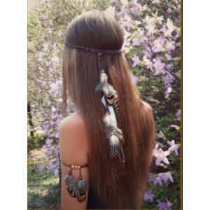 F-0444 New Handmade Bohemian Feather Headbands Festival Hippie Headdress Hiar Accessories Fashion Jewelry
