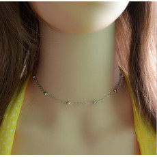 N-6889 Bohemian Gold Silver Metal Color Choker Necklace Women Simple Jewelry Wedding Party Statement Necklace