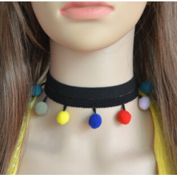 N-6893 Multilayer Chokers Necklaces For Women Geometric Round Ball Pendant Necklace Collares Fashion Jewelry 2017