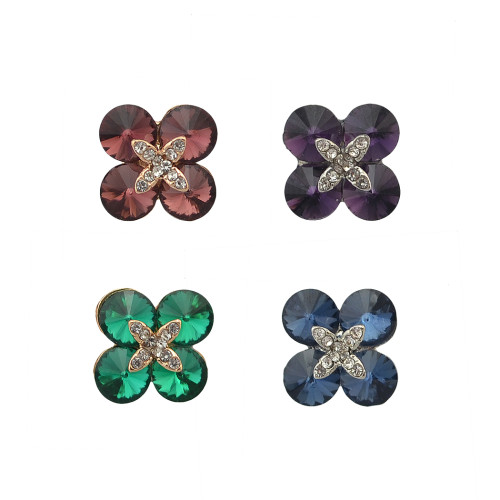 P-0381 4Color European Style Fashion Brooch Charm Crystal Rhinestone Flower Pins Brooches For Women Jewelry