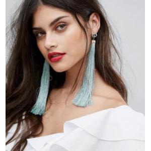 E-4194 4Colors Bohemian Fringe Long Tassel Drop Earrings for Women Fashion Party Jewelry