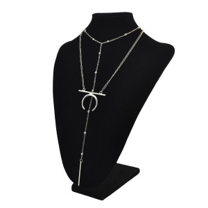 N-6899 New arrive European Style Sexy Chain Pendant Moon Shape Necklace for Women Party Jewelry