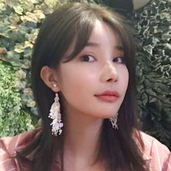 E-4205 Fashion European Bohemian Luxury Crystal Rhinestone Pearl Tassel Lace Charm Drop Stud Earring for Women Jewelry