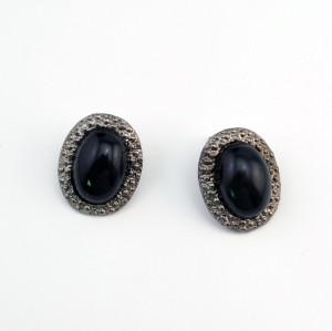 E-2083 European style Gun Black Alloy  Simple Stud Earring For Women Jewelry