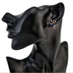 E-1159 European style Crown Apple Alloy Simple Stud Earring For Women Jewelry