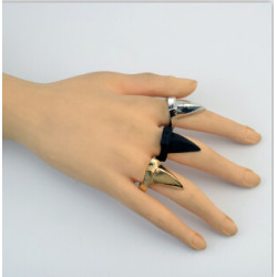 R-1007 3 Colors Punk Unique Eagle Claw Finger Rings for Women Men Personality Jewelry