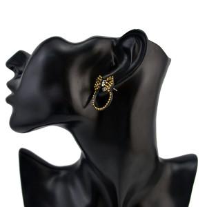 Fashion Bohemian Vintage Bow Tie Bead  Stud Earring for Women Jewelry