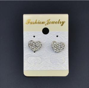 E-1011 Silver Diamante Ear Jewelry Charm Earrings For women