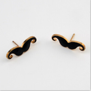 New Fashion Lovely Bearded Simple style Ear Jewelry Black Earrings For Women Charm Jewelry